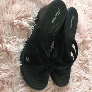 Skechers wedge sandals.